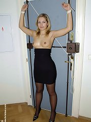 Jenni tied and undressed